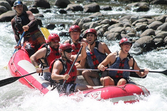 November 2013 group on the mighty Toro River in Costa Rica. Courtesy of Detours Gay Travel.